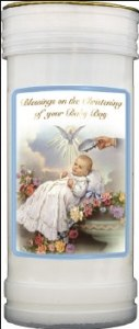 Christening Boy Candle