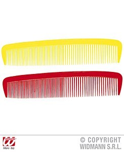 Clowns Giant Comb Red