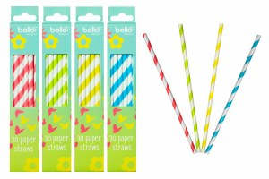 Coloured Paper Straws