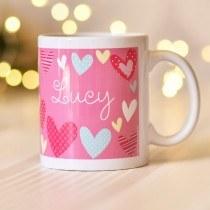 Colourful Hearts Mug