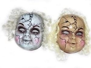 Grey Crackled Face Mask