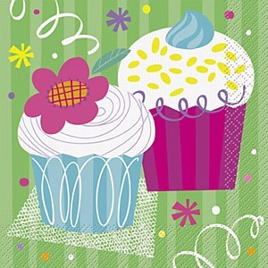Cupcake Party Napkins