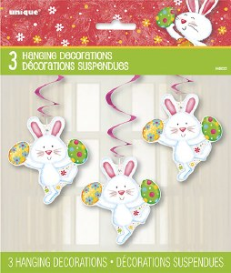 Easter Bunny Swirl Decorations