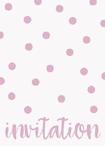 Elegant Pink Dots Invitations