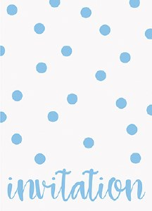 Elegant Blue Dots Invitations