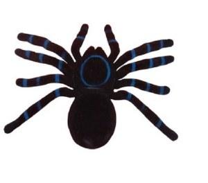 Flocked Spider Decoration