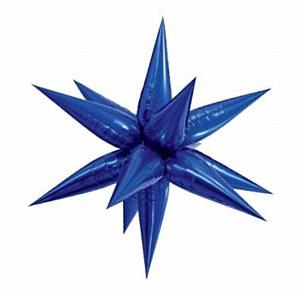 Giant Blue Starburst Balloon