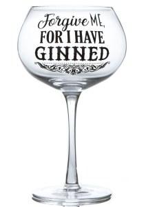 Gin Forgive Me Glass