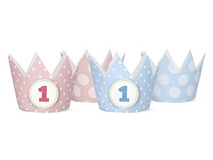 Girls 1st Birthday Party Crown