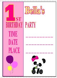 Girl's 1st Birthday Invites