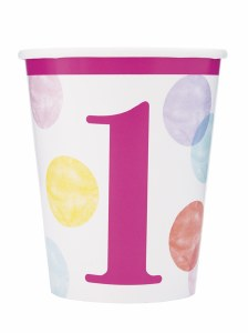 Girls 1st Birthday Cups