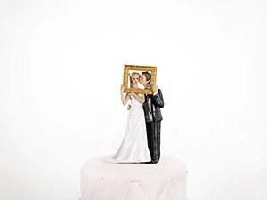 Gold Frame Wedding Cake Topper