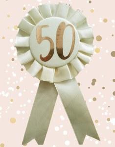 Gold 50th Rosette