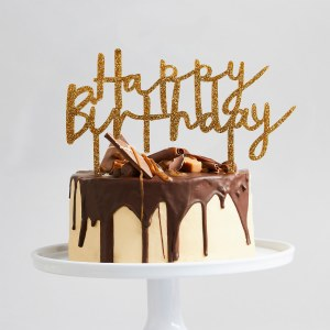 Gold Birthday Cake Topper