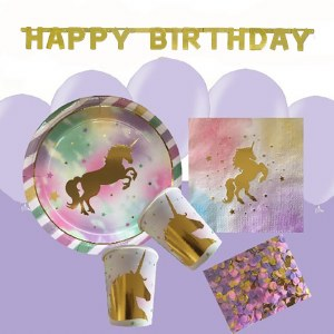 Gold Unicorn Party Bundle