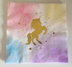 Gold Unicorn Party Napkins