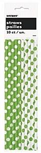 Green Dots Drinking Straws
