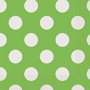 Green Dots Paper Napkins