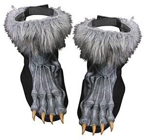 Grey Werewolf Shoe Covers