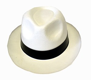 White Al Capone Hat.