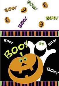 Halloween Boo Tablecovers
