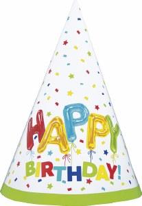 Happy Balloon Birthday Hats