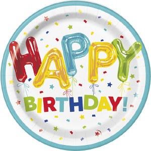 Happy Balloon Birthday Plates