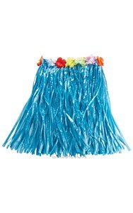 Hawaiian Blue Grass Skirt