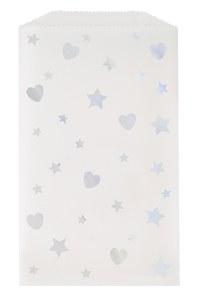 Hearts & Stars Glassine Bags
