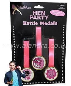 Hen Party Hottie Medals