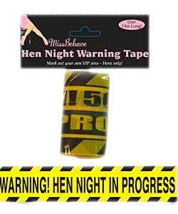 Hen Party Yellow Tape