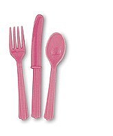 Hot Pink Cutlery