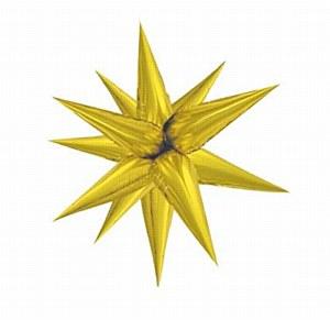 Large Gold Starburst Balloon