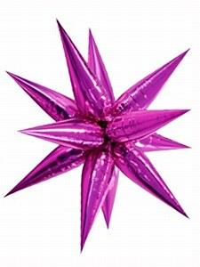 Large Pink Starburst Balloon
