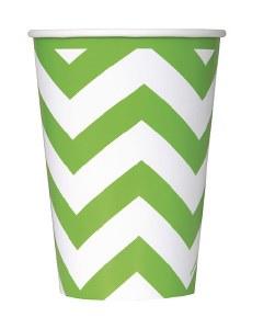 Lime Green Chevron Cups