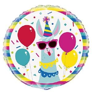 Llama Party Foil Balloon