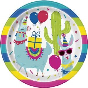 Llama Party Plates