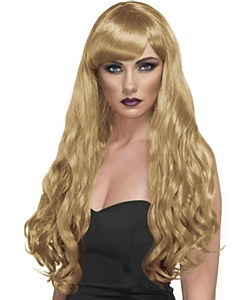 Long Curly Wig Blonde