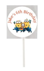 15PK Minion Lollipops