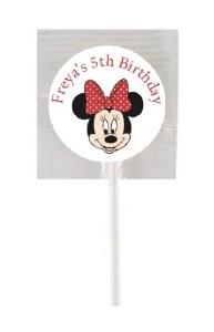 15Pk Minnie Mouse Lollipops