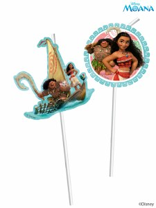 Moana Party Straws