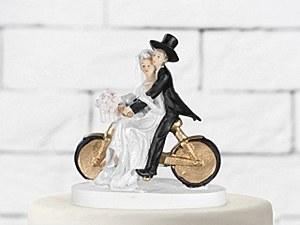 Mr & Mrs On a Bike Cake Topper