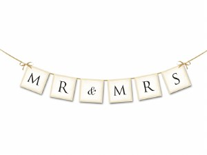 Mr & Mrs Wedding Banner