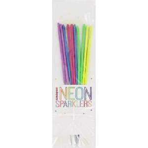 Neon Sparkler Candles