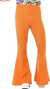 Orange Flared Trousers