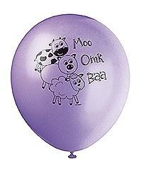 Pastel Farm Party Balloons