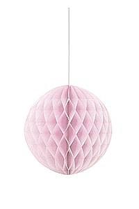 Pastel Pink Honeycomb Ball
