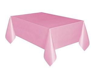 Pastel Pink Plastic Tablecloth