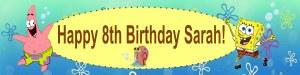 Personalised Spongebob Banner