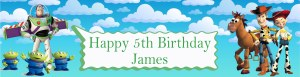 Personalised Toy Story Banner